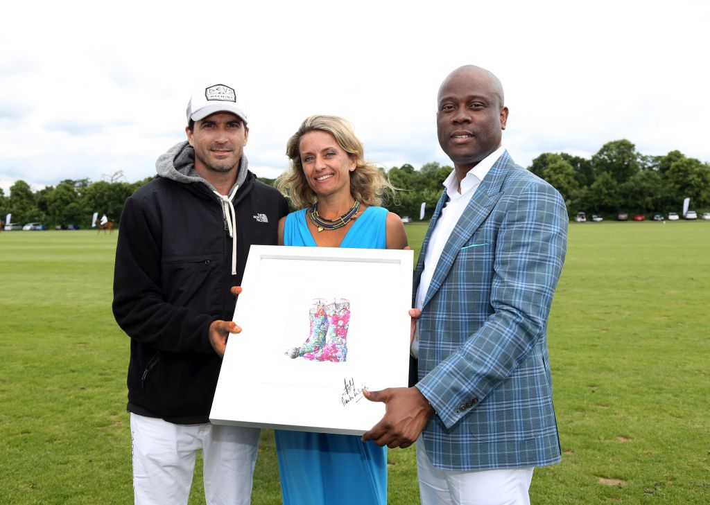 Adolfo Cambiaso, World No 1 Polo player; Polly Alakija, artist in residence; Herbert Wigwe, CEO and Managing Director of Access Bank Plc