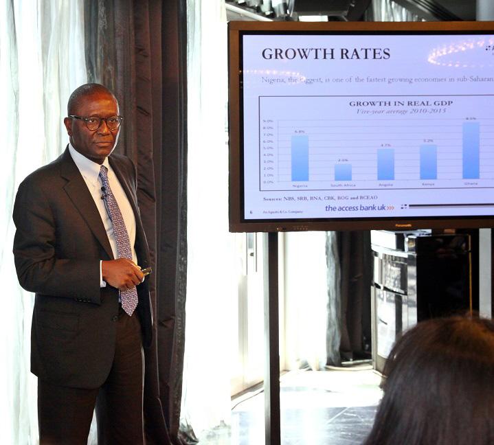 Olabode Agusto during his presentation